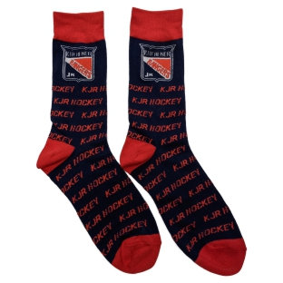 Knit Socks - Navy/Red Product Image